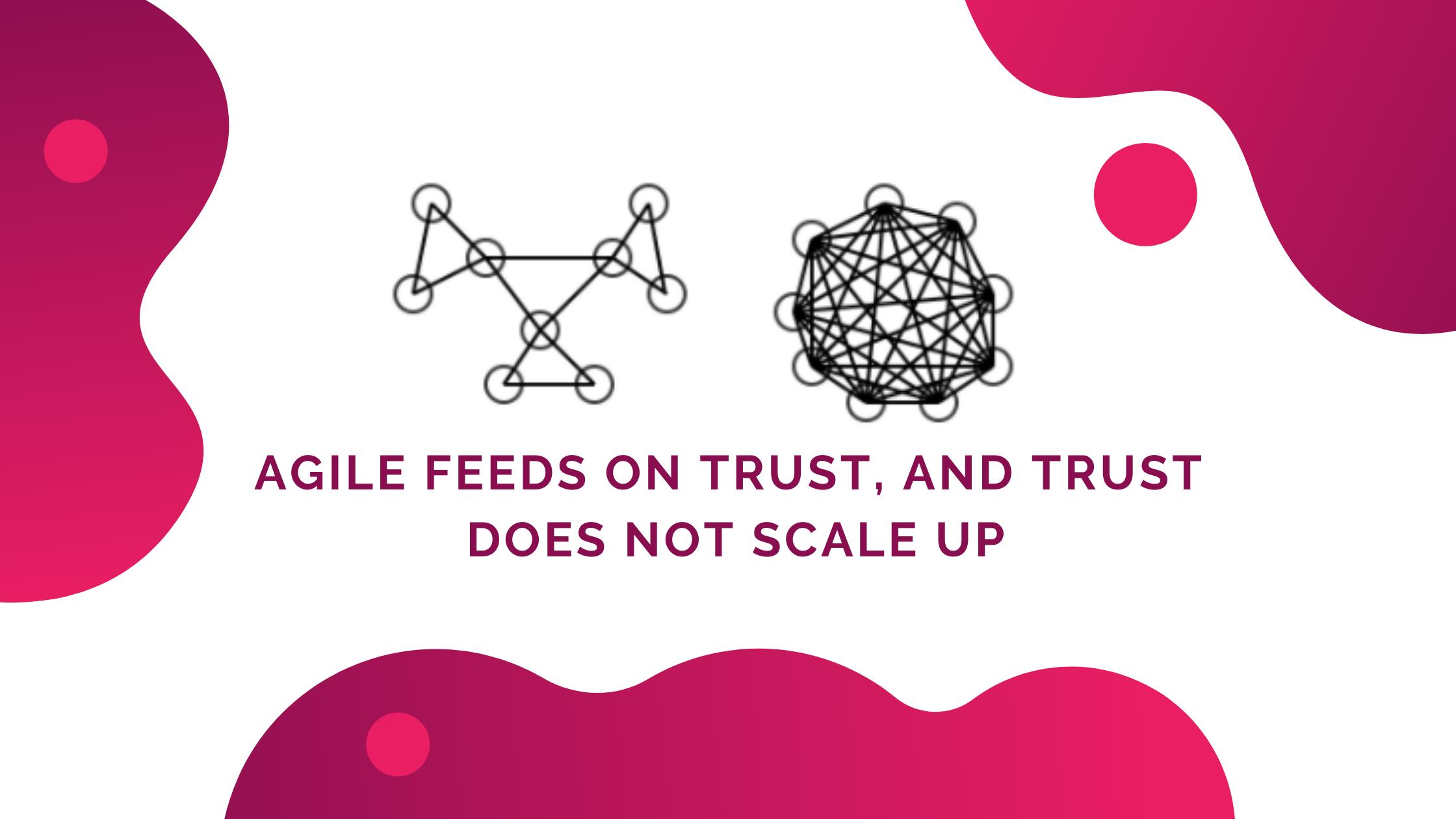 Agile gedeiht im gegenseitigen Vertrauen, und Vertrauen skaliert nicht